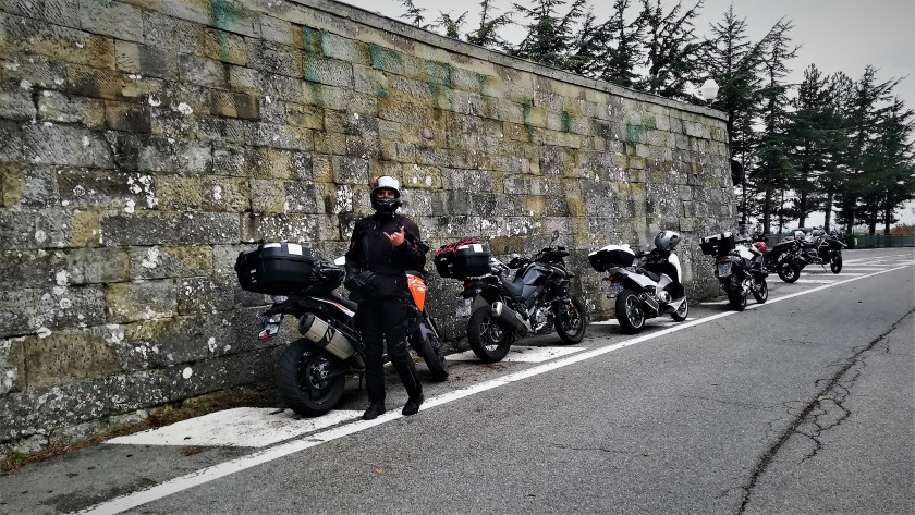 KP en el Passo del Muraglione