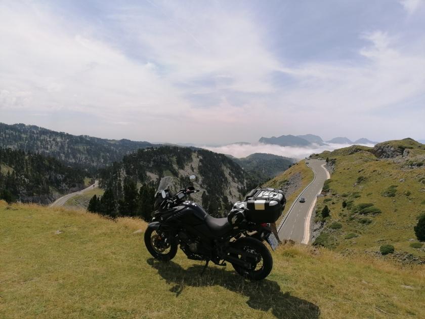 moto, valle, Roncal, Col, puerto de montaña, Pierre Saint Martin,