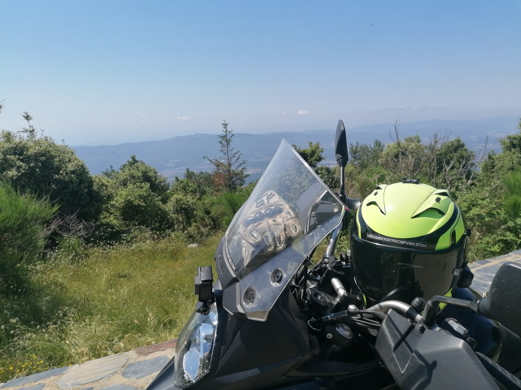 moto, panorámica, vallés oriental,casco